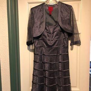 Tea length mother-of-the-bride dress